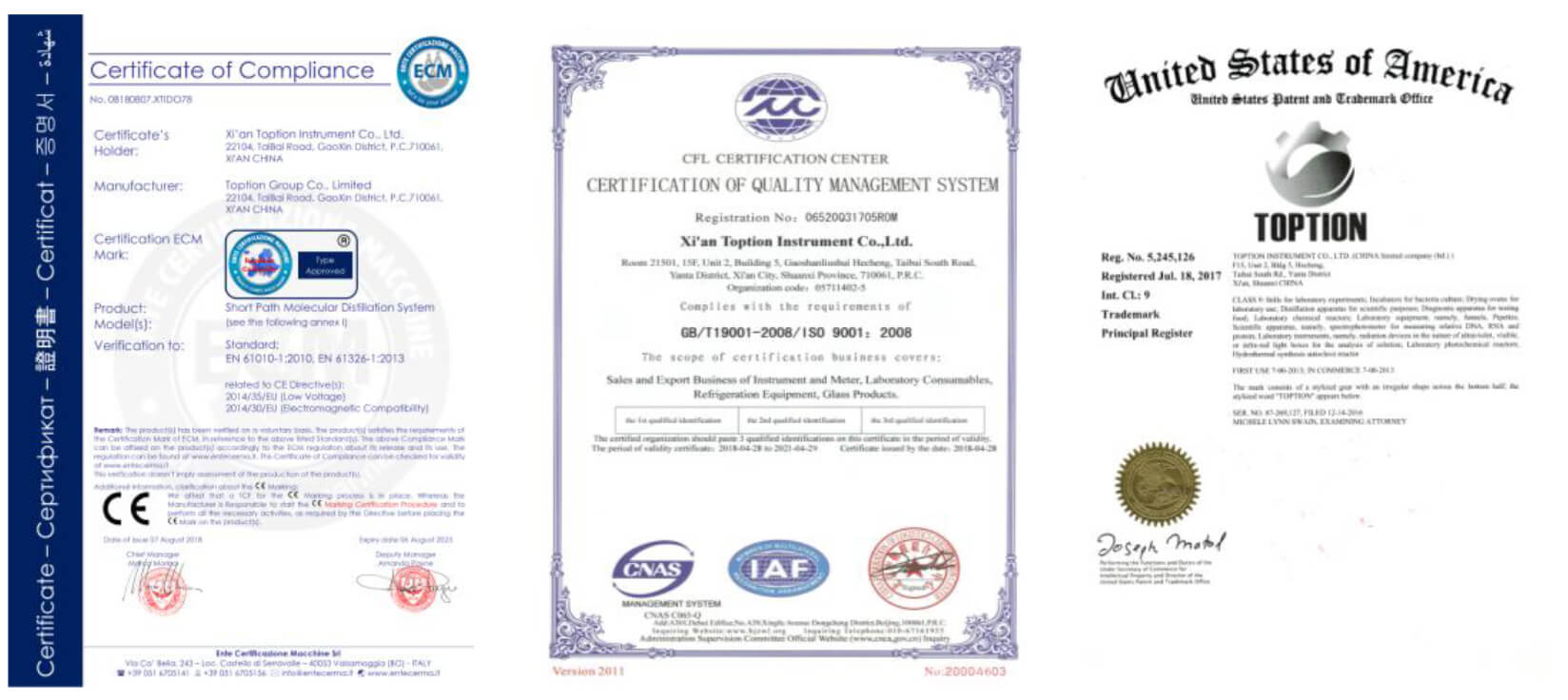 supercritical co2 extractor certification