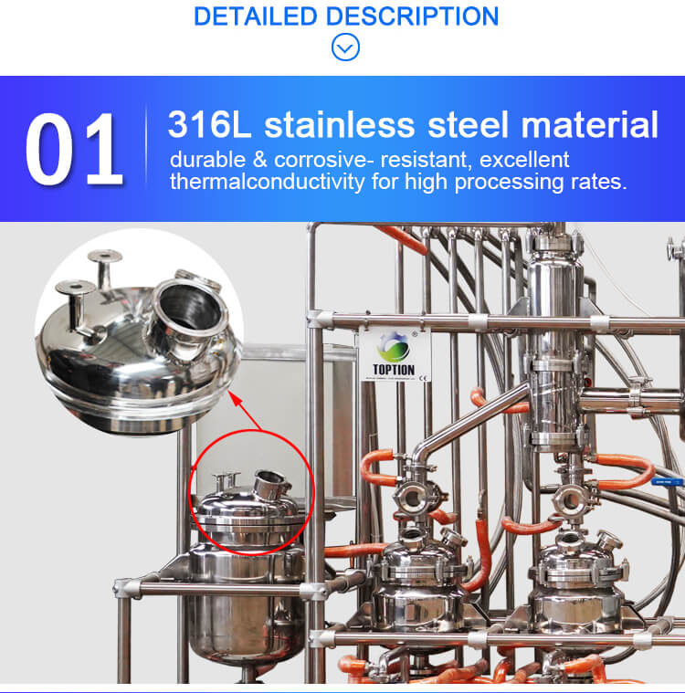 stainless steel molecular distillation