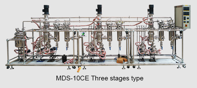 3 stages molecular distillation