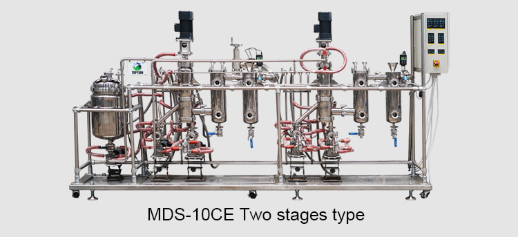 2 stages molecular distillation