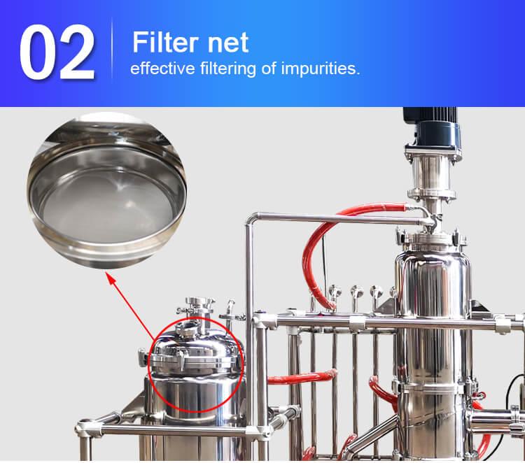 8 inch molecular distillation filter net design