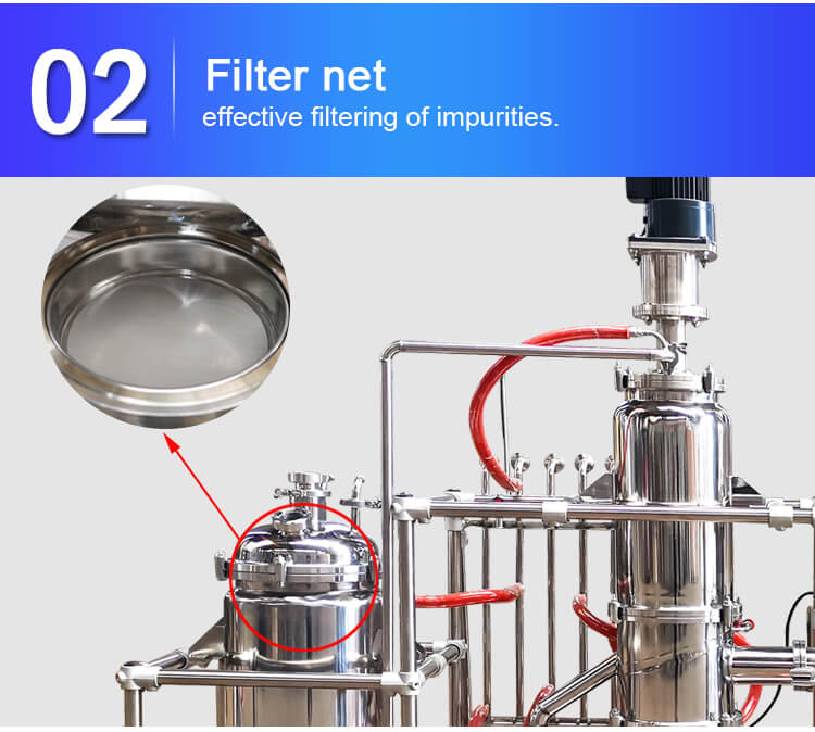short path molecular distillation tank