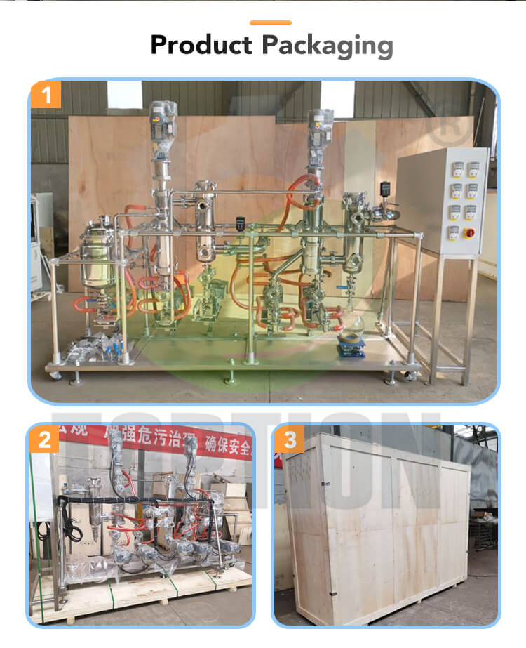 wiped film evaporator package