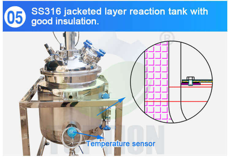 jacketed crystallization tank
