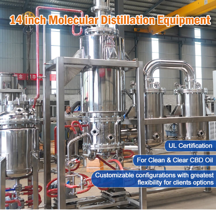 14 inch molecular distillation