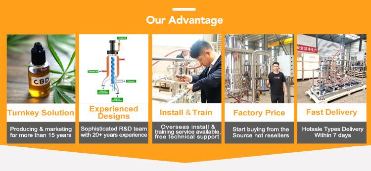 advantages of distillation equipment