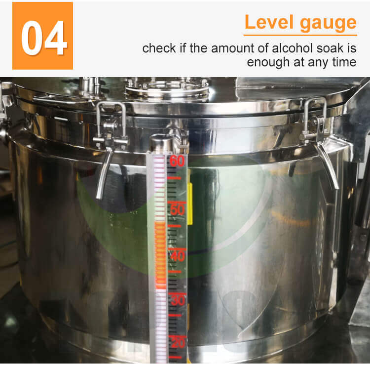 extraction equipment level guage design