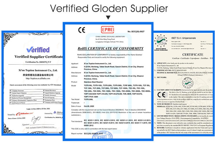 certification of evaporator