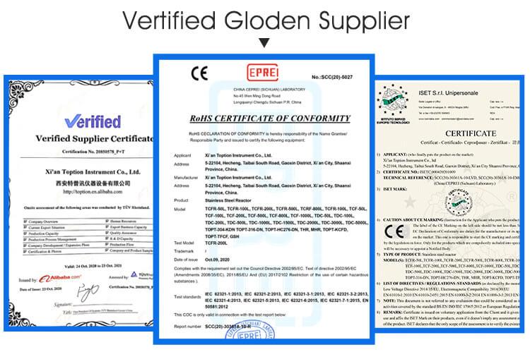 certification of rolling film distillation
